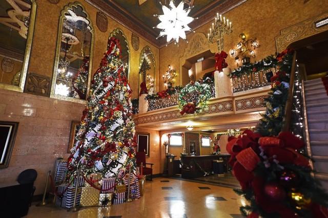 Movie theatre christmas house