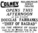 <p>April 11th, 1925 grand opening ad</p>