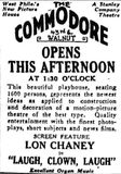 September 22nd, 1928 grand opening ad