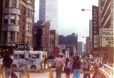 August 1974 photo courtesy of Lois Blue. Quite possibly 08/11/74, the same day as the previous photo of the Gold Coast Art Fair via David Cacioppo Sr. As the ice cream truck is in the exact same spot.