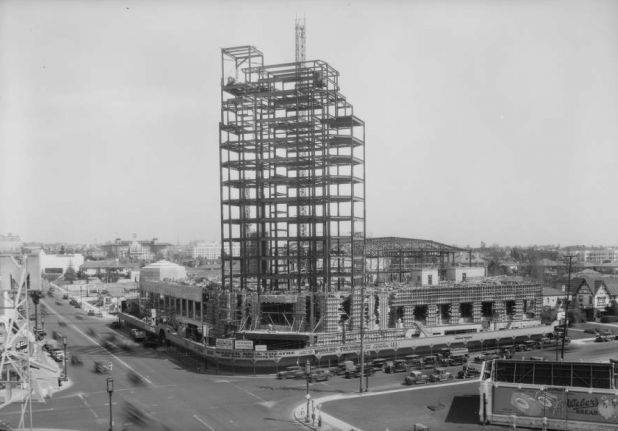The Wiltern under construction in 1931. Photo credit The Wiltern Facebook Page. https://www.facebook.com/wiltern?fref=photo