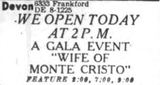 October 2nd, 1946 grand opening ad