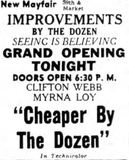 <p>June 7th, 1950 grand opening ad</p>