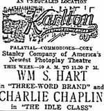 October 17th, 1921 grand opening ad