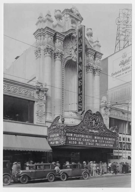 "World Premiere of ""City Lights"" was January 30th, 1931. Photo courtesy of Michael Nasby."
