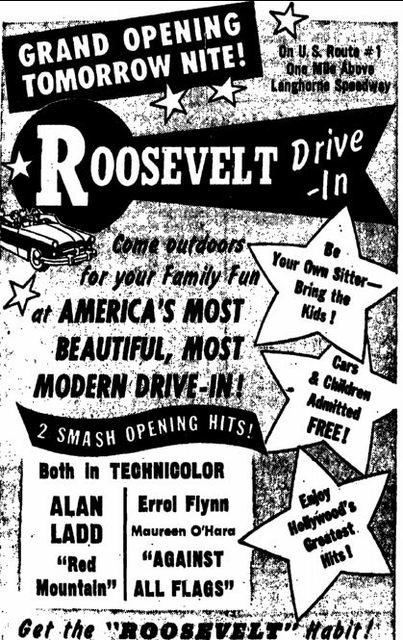 June 25th, 1953 grand opening ad