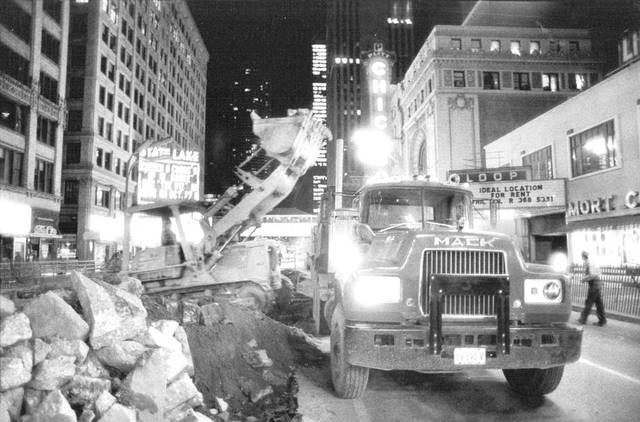 Beginning of construction of the State Street Mall in 1978. Photo credit John Chuckman Collection.