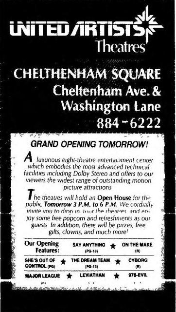 April 13th, 1989 grand opening ad