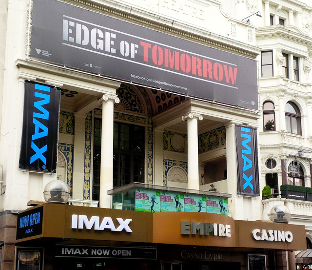 Empire Leicester Square IMAX Advertising on Facade