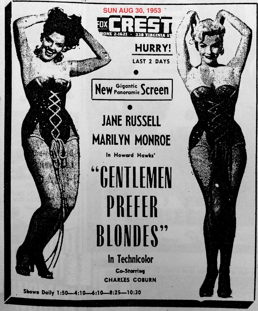 AD FOR GENTLEMEN PREFER BLONDES #1