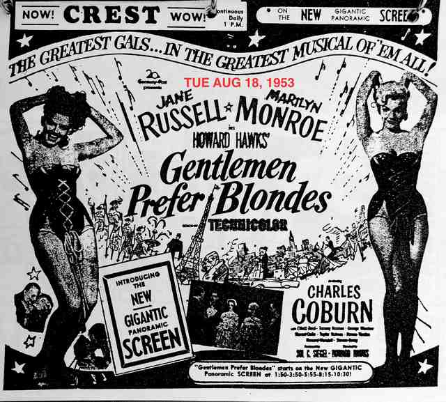 AD FOR GENTLEMEN PREFER BLONDES #2