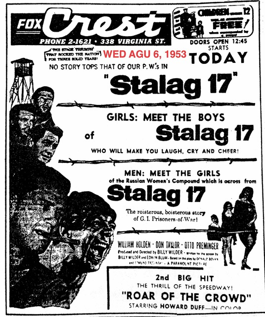 AD FOR STALAG 17