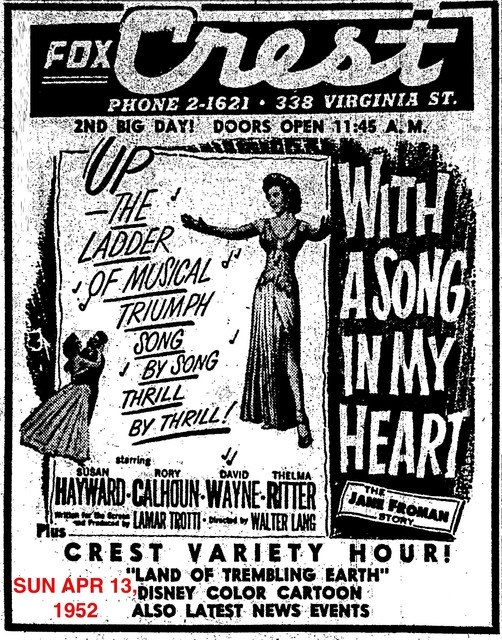 AD FOR WITH A SONG IN MY HEART #1