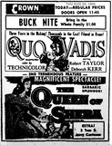 AD FOR QUO VADIS
