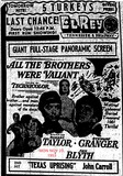 AD FOR ALL THE BROTHERS WERE VALIANT