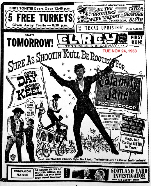 AD FOR CALAMITY JANE