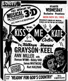 AD FOR KISS ME KATE