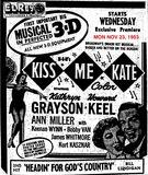AD FOR KISS ME KATE