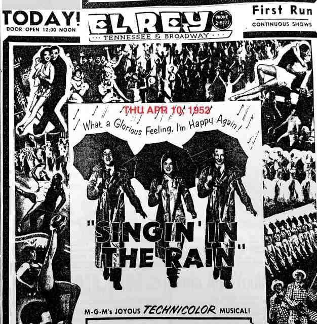 AD FOR SINGIN' IN THE RAIN