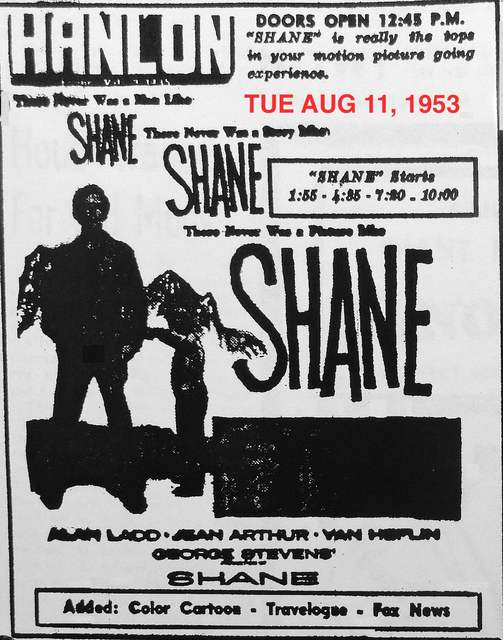 AD FOR SHANE
