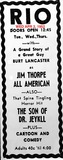 AD FOR JIM THORPE ALL AMERICAN
