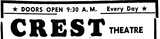 CREST LOGO WITH OPENING TIME