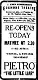 Edgemont grand opening ad from November 5th, 1918.