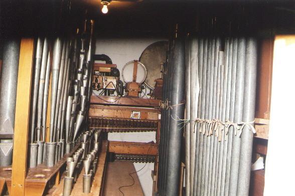 Organ pipes below stage