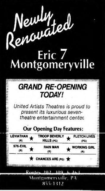March 24th, 1989 opening as a 7-plex cinema