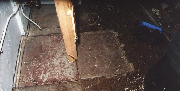 Booth trap door