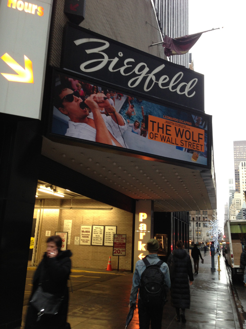 The Wolf of Wall Steet - marquee