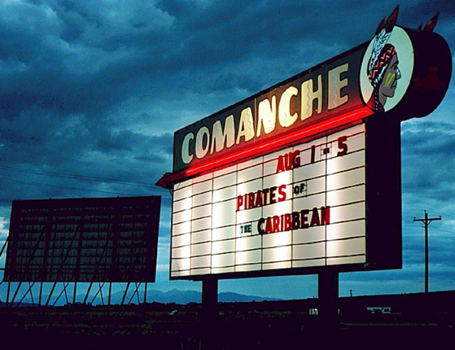 Comanche drive in in buena vista co cinema treasures for Drive in movie theaters still open