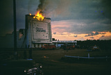 <p>Screen Tower on Fire May 17,1953</p>