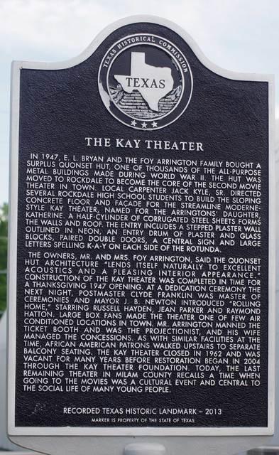 KAY Theater, Rockdale, Tx   9Jun2014