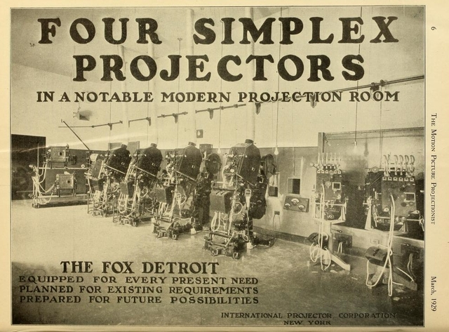 Fox projection booth