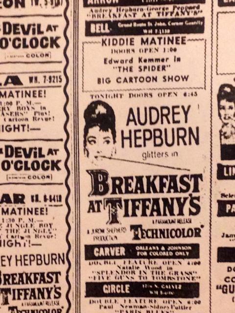 12/09/61 print ad courtesy of Kenneth Hall.