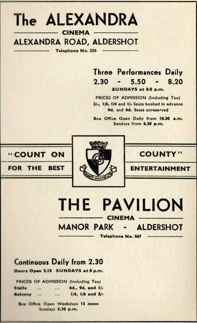 County Cinemas advert