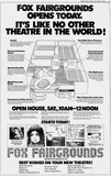 December 19th, 1980 grand opening ad as Fox Fairgrounds 5