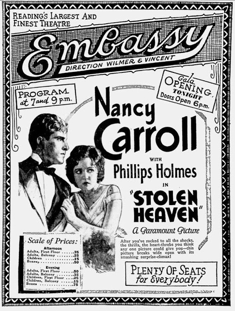 April 4th, 1931 grand opening ad