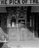 <p>Close up of Paradise Theatre box office.  Taken in 1941.</p>