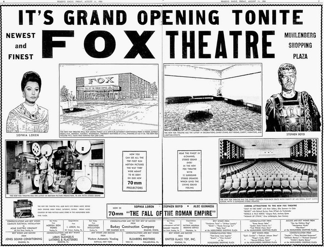 August 21st, 1964 grand opening ad
