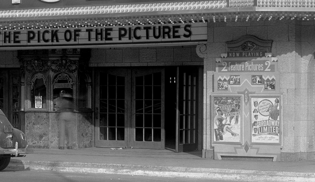 Box office and poster case.  Paradise Theatre, 1941.