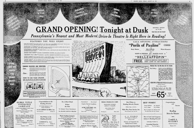 August 26th, 1949 grand opening ad
