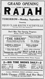 September 10th, 1922 grand opening ad