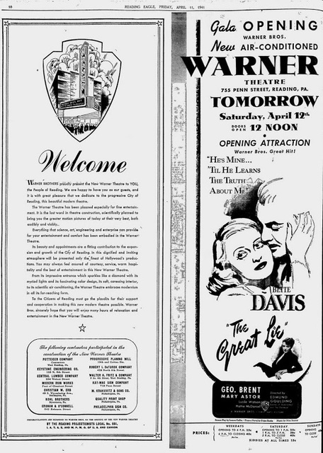 April 11th, 1941 grand opening ad