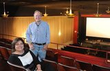 Tim Downey and Cindy Kottke in the ANTIOCH DOWNTOWN Theatre balcony.
