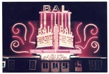 <p>Summer, 1985 view of the Bal's facade.  The original neon never looked as good again as it did at this time.</p>