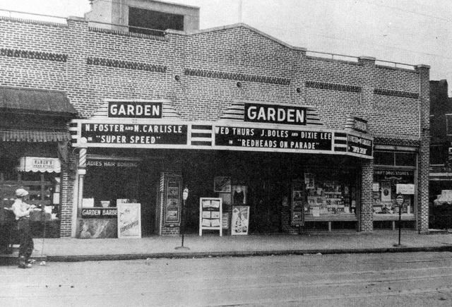 Pacys Garden Theatre Circa 1939