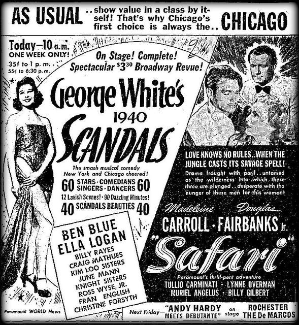 George White's Scandals comes to Chicago