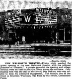 WALWORTH Theatre; Walworth, Wisconsin.